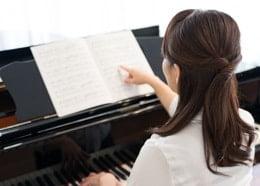 大人のピアノレッスン写真