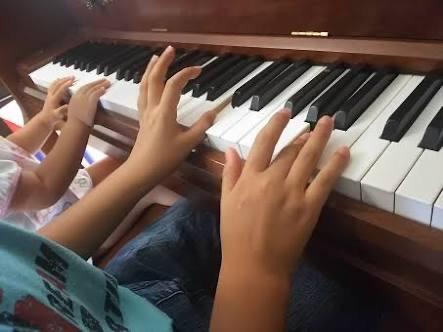 親子でピアノレッスン